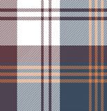 Check Fabric pattern - Shirt. Check fabric texture for shirt wine color, blue, orange and white Royalty Free Stock Photography