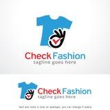 Check Fashion Logo Template Design Vector, Emblem, Design Concept, Creative Symbol, Icon Royalty Free Stock Photos