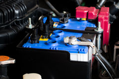 Check fluid car battery Stock Photo