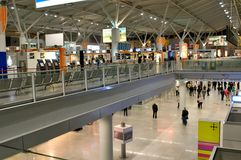 Check-in in Frederic Chopin  airport Stock Photo