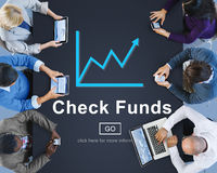 Check Funds Budget Analysis Business Data Finance Concept Stock Image