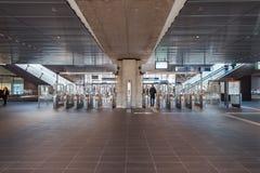 Subway / metro / underground station Amsterdam Noord, Nederland royalty free stock image