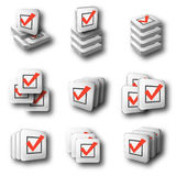 Check group icons Royalty Free Stock Photo