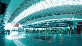 Check-in Hall of the Airport. Time Lapse 4K stock footage