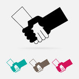 Check hand icon great for any use. Vector EPS10. Stock Photography