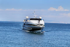 Check hydrofoil to the port of Sorrento Stock Photos