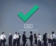 Check Icon Correct Element Next Concept royalty free stock photos