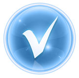 Check icon ice Royalty Free Stock Images