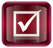 Check icon red Stock Images
