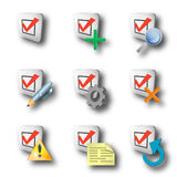 Check icons Stock Photo