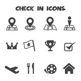 Check in icons Stock Photos