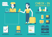 Check in Info graphic Royalty Free Stock Photography