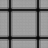 Check Keffiyeh Seamless Pattern. Traditional vector black and white textile print Stock Photos