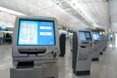 Check-in kiosks Stock Photo