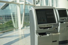 Check-in kiosks Royalty Free Stock Image
