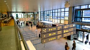 Check-in in Krakow airport royalty free stock images