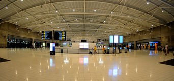 Check-in in Larnaca  airport - Cyprus Stock Images