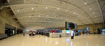 Check-in in Larnaca  airport - Cyprus Royalty Free Stock Photography