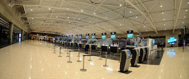 Check-in in Larnaca  airport - Cyprus Royalty Free Stock Images