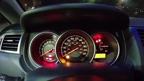 Check light warning and start engine car. stock video footage