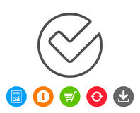 Check line icon. Approved Tick sign. Royalty Free Stock Images