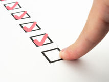 Check list Stock Images