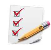 Check list Stock Photography