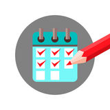 Check List Agenda with Check Mark Icon Royalty Free Stock Images