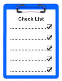 The check list Stock Photography