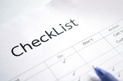 Check list form Royalty Free Stock Photography