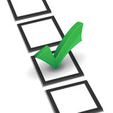 Check list with green right mark Stock Photo