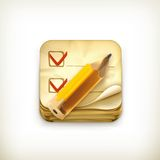 Check list, icon Stock Photo