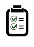 Check list icon Royalty Free Stock Photography