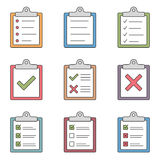 Check List Icons Royalty Free Stock Photos