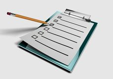 Check list. Image is posed on white background Stock Images