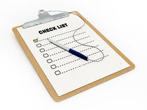 Check list Stock Image