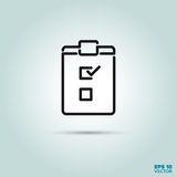 Check list line icon. Check list on clipboard Line Icon Vector vector illustration