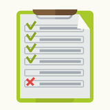 Check list marks on notepad vector icon Royalty Free Stock Images