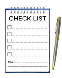 Check list note paper Royalty Free Stock Photography