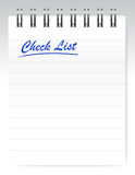 Check list notepad illustration design Stock Photography