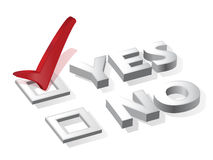 Check list with red choice yes or no Stock Photography