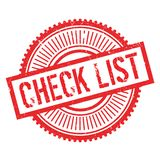 Check list stamp. Grunge design with dust scratches. Effects can be easily removed for a clean, crisp look. Color is easily changed Royalty Free Stock Photography