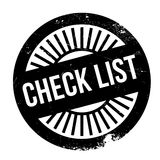 Check list stamp. Grunge design with dust scratches. Effects can be easily removed for a clean, crisp look. Color is easily changed Stock Photos