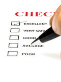 Check list survay paper Royalty Free Stock Photos