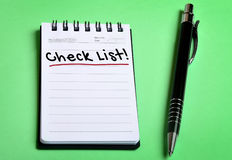 Check list word Stock Photos