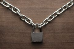 Check-lock and chain concept Stock Photo