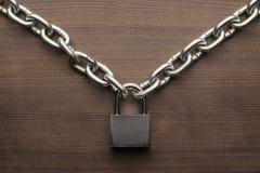 Check-lock and chain concept Stock Photo