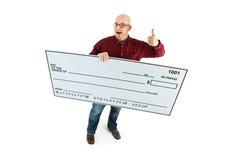 Check: Man Gives Thumbs Up for Check Royalty Free Stock Photos