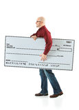 Check: Man Heading to Bank with Check Stock Photo