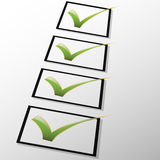 Check mark. Illustration of the check mark on a white background in three dimensions Royalty Free Stock Images